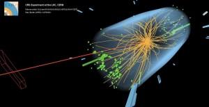"""Signature de la désintégration d'un boson BEH en deux """"taus"""" CMS/CERN"""