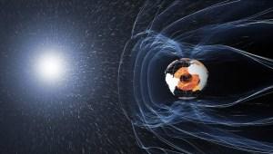 Vent solaire et champ magnétique de la Terre © ESA
