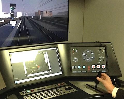 Le simulateur de conduite de trains permet de tester les solutions imaginées à Charleroi, comme l'EcoDriving par exemple.