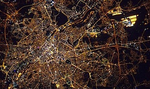 Bruxelles, automne 2015, vue depuis l'ISS. © NASA