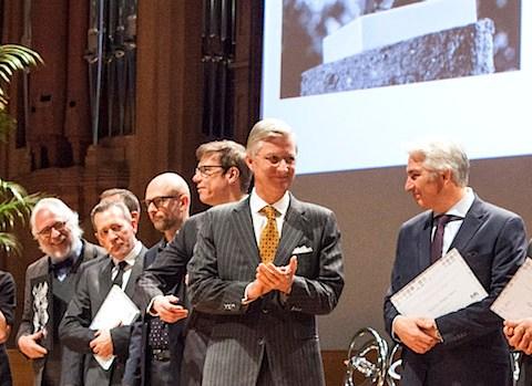 Lundi 30 novembre 2015. Le Roi Philippe remet les prix scientifiques Quinquennaux du F.R.S-FNRS et du FWO aux lauréats.