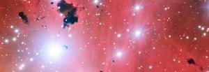 Quelques étoiles surprises au berceau par le Very Large Telescope européen. © ESO