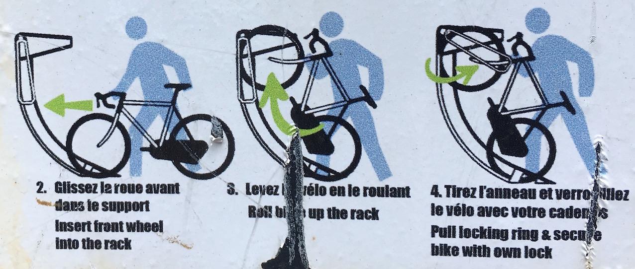 Montréal, instructions bilingues.