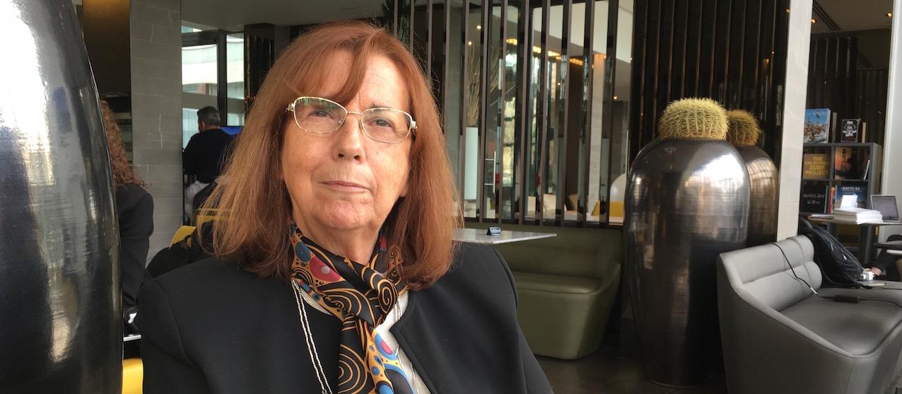 Paris, 21 mars 2017. Pr Maria Teresa Ruiz, Présidente de l'Académie des Sciences du Chili, une des cinq lauréates du prix « L'Oréal-Unesco Pour les Femmes et la Science 2017».