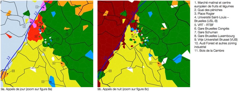 Bassins de téléphonie mobile, zoom sur Bruxelles. (Brussels Studies 118).