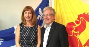 Pascale Delcomminette, Administratrice générale de Wallonie Bruxelles-International et le Dr Rémi Quirion, Scientifique en chef du Québec.