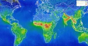 L'image en tête d'article, et reproduite ici, donne un aperçu global des émissions de formaldéhyde tels qu'observé par l'instrument Tropomi. © BIRA-IASB/DLR/ESA/EU