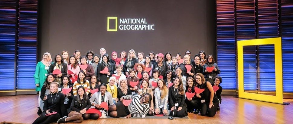 Les participantes au programme 2018 « Hidden no more: advancing women in STEM fields », en visite au siège de la National Geographic Society.