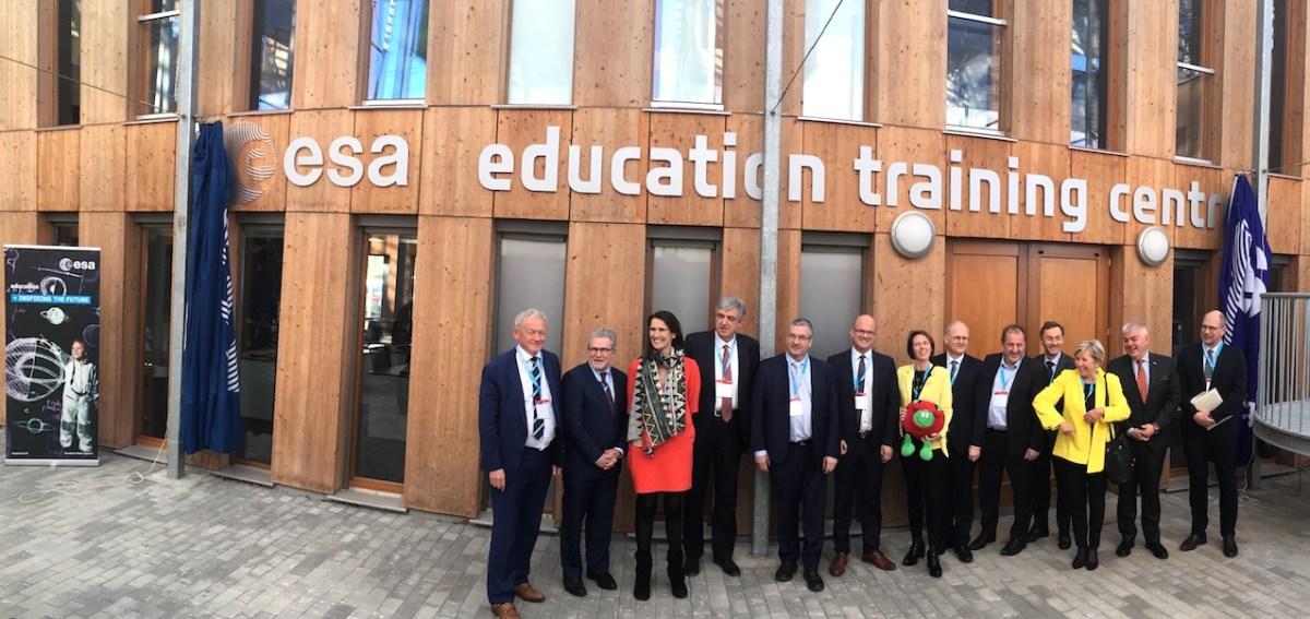Inauguration du Centre de formation de l'ESA à Transinne, le 29 mars 2019.