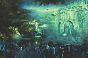 Les grottes rhabillées en vidéo-mapping: fascinant! (cliquez pour agrandir)