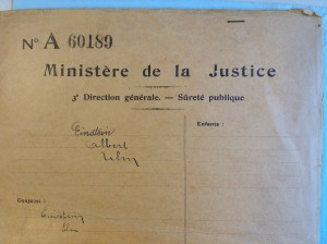 """Dossier """"Einstein"""" du Ministère de la Justice belge. (Cliquer pour agrandir)"""