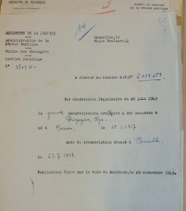 Pr Ilya Prigogine (ULB) : grande naturalisation. (Cliquer pour agrandir)