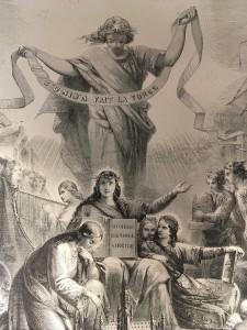 Une illustration dans un texte juridique? L'initiative est peu banale: ici, la Constitution belge de 1830. (Cliquer pour agrandir)