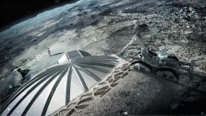 Un village international et fédérateur sur la Lune, construit par des robots. © ESA/Foster (Cliquer pour agrandir)