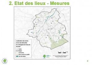 Carte des écoles étudiées dans la région de Bruxelles-Capitale.
