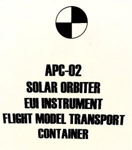 """""""Transport container"""", instrument EUI, Centre Spatial de Liège."""
