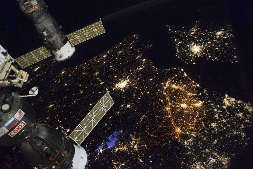L'Europe et la Belgique vues depuis la Station spatiale internationale. © ESA/NASA