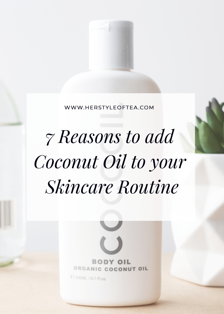 Is coconut oil really worth the hype? I think so. Read this article to learn about 7 coconut oil benefits for your skin and beauty routine.  #cleanbeauty #coconutoil #coconutoilbenefits #coconutoiluses #naturalskincare