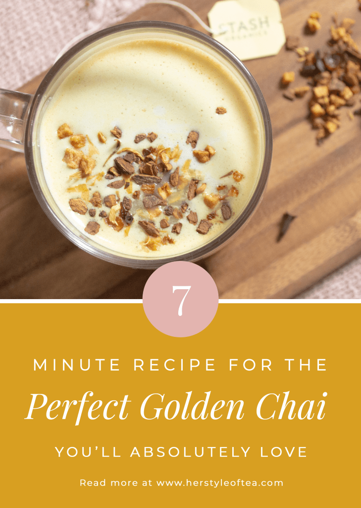 Tired of overspending on expensive lattes at starbucks? Try this healthy Golden Chai Latte recipe that takes less than 7 minutes to make!