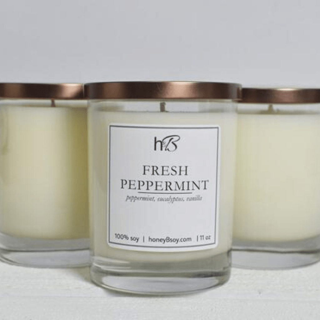 Fresh Peppermint Candle Honey B Soy