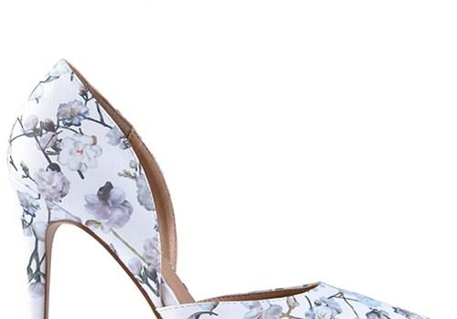 Madison Elle Floral Satin Court Heels