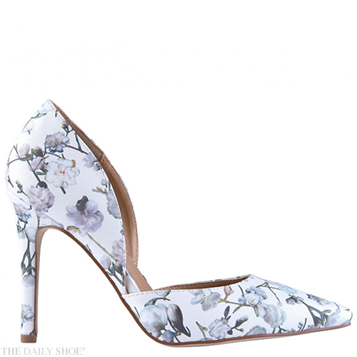 Madison Elle Floral Satin Court Heels