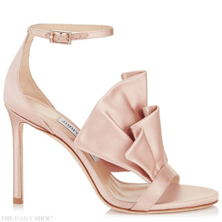 JIMMY CHOO Kami ruffled satin sandals