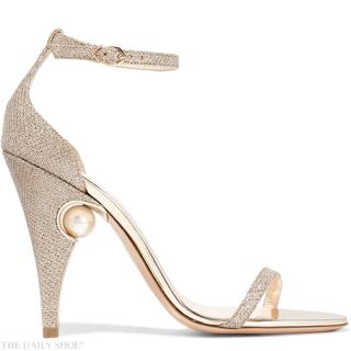 NICHOLAS KIRKWOOD Penelope embellished metallic mesh sandals