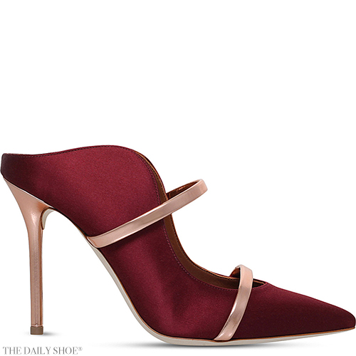 MALONE SOULIERS Maureen buckled satin mules