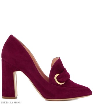 Rupert Sanderson Monique Suede Heeled Shoes - Sangria