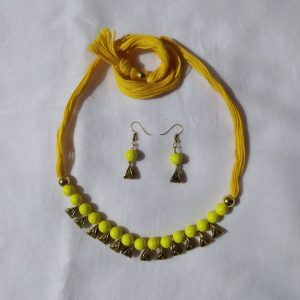 Shantiniketan Yellow beaded Necklace