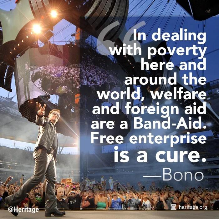 Bono Quote, free enterprise