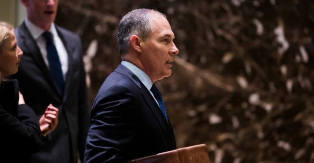President-elect Donald Trump has named Scott Pruitt, attorney general for Oklahoma and a leading litigant against EPA regulations, as his pick for EPA administrator. (Photo: Polaris/Newscom)