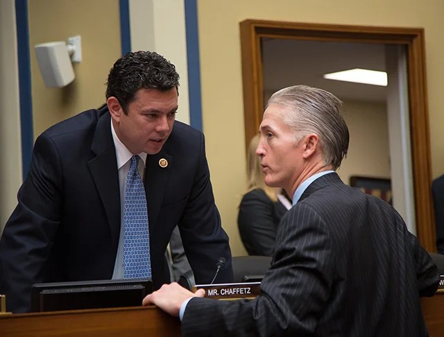 Rep. Jason Chaffetz, R-Utah, and Chairman of the House Benghazi Select Committee, Rep. Trey Gowdy, R-S.C. (Photo: Newscom)