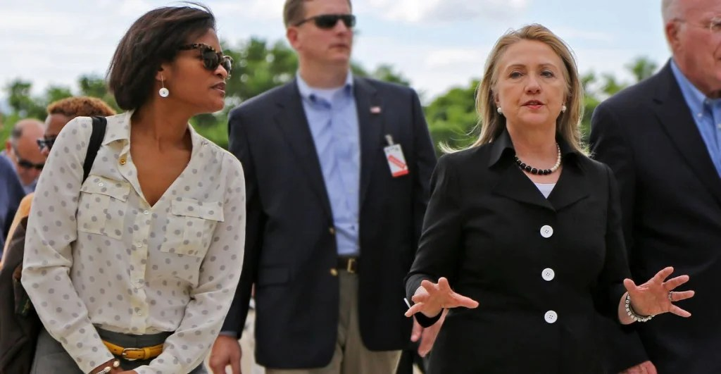Cheryl Mills, left, was Hillary Clinton's chief of staff and former White House counsel who defended President Bill Clinton during his impeachment trial. (Photo: Newscom)