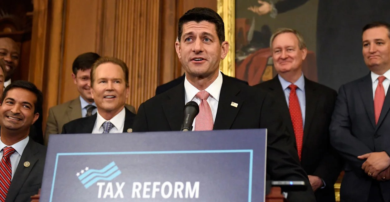 Image result for paul ryan announces tax reform