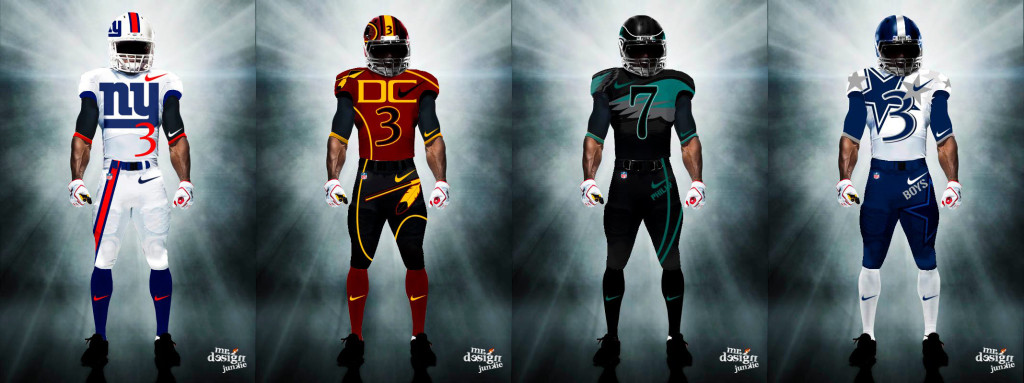 Mr Design Junkie All 32 NFL Teams Uniforms Redesigned