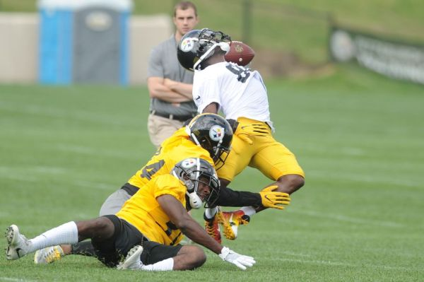 Antonio Brown Makes Ridiculous Catch During Steelers ...