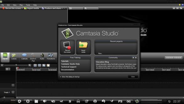 Camtasia Studio windows