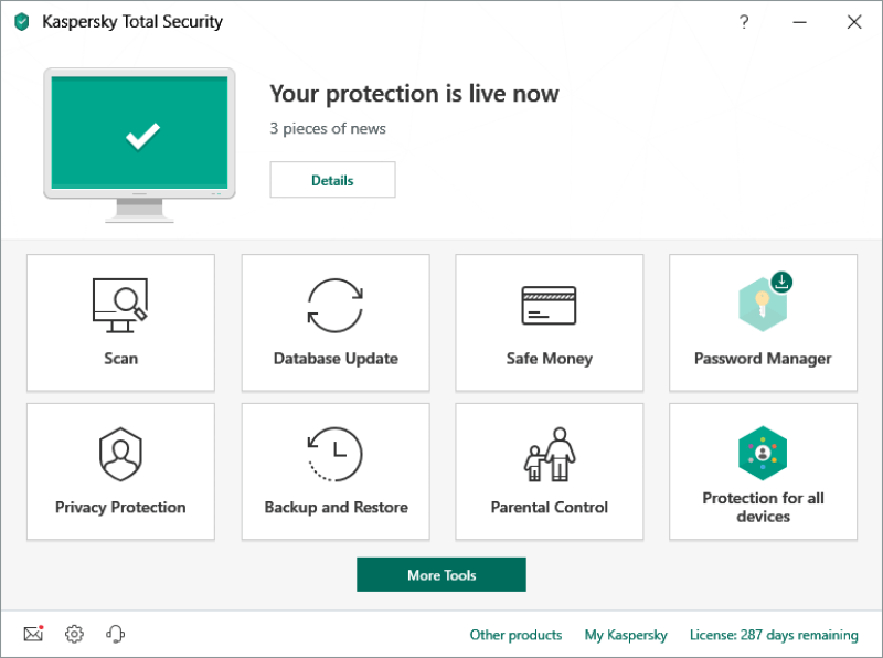Kaspersky Total Security windows