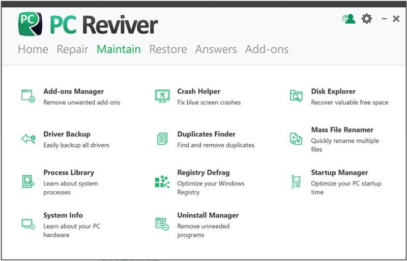 ReviverSoft PC Reviver windows
