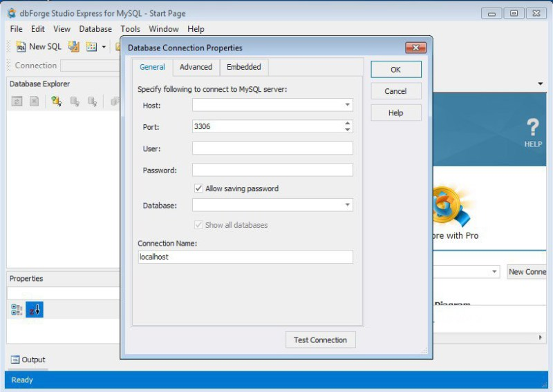 dbForge Studio MySQL Enterprise windows