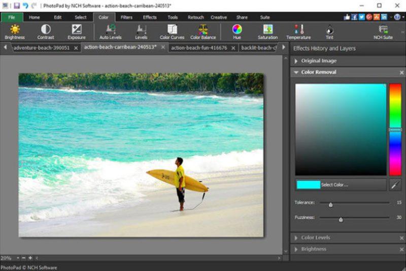 NCH PhotoPad Image Editor Pro windows