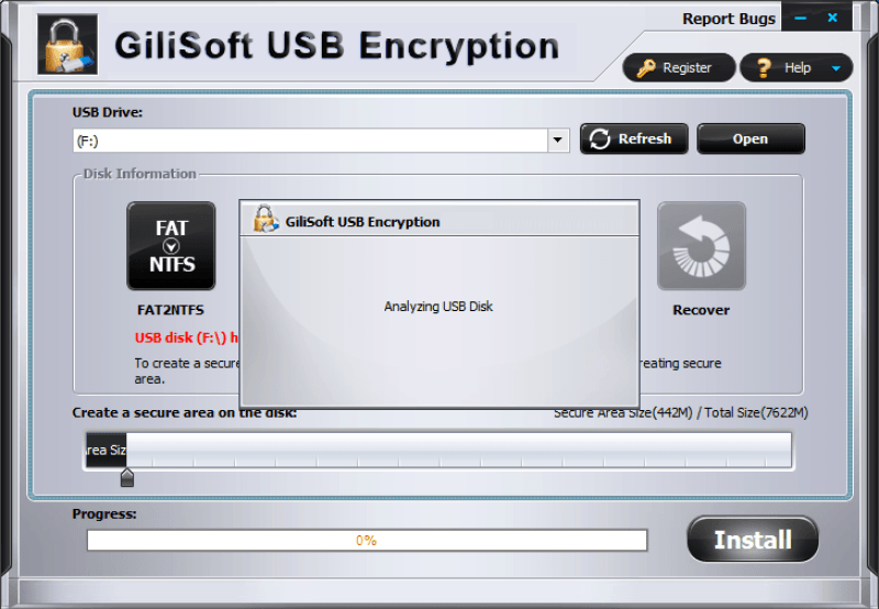 GiliSoft USB Stick Encryption windows