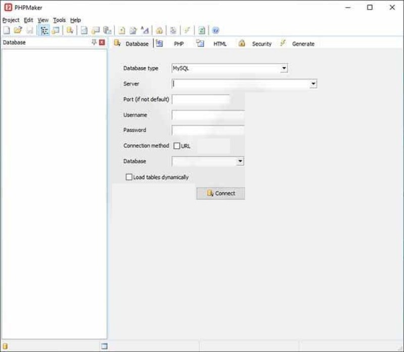 PHPMaker windows