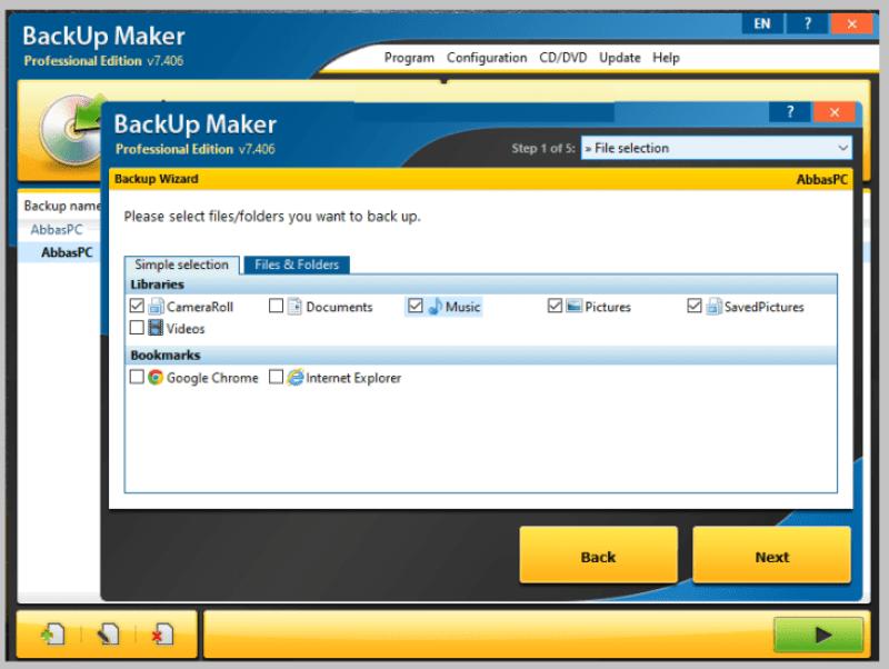 BackUp Maker Professional windows
