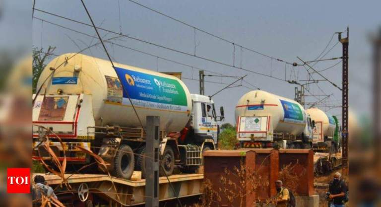 Indian Railways delivers nearly 450 tons of oxygen to states | India News