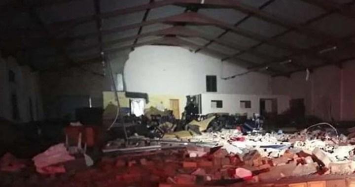 جنوبی افریقہ: چرچ کی دیوار گرنے سے 13 ہلاک 16 زخمی
