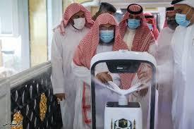 مسجد حرم الحرام میں روبوٹ کے ذریعے سپرے کرنے کا عمل شروع