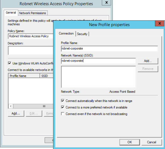 Create a Group Policy to deploy a company wireless network